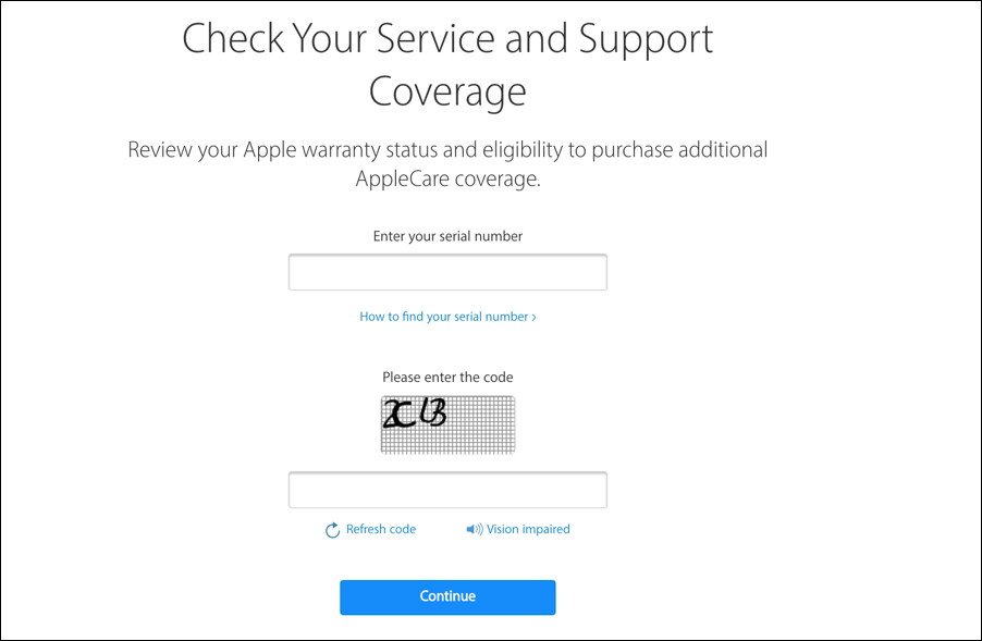 check apple applecare mac support coverage status