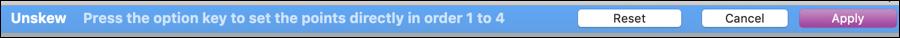 graphicconverter mac unskew toolbar