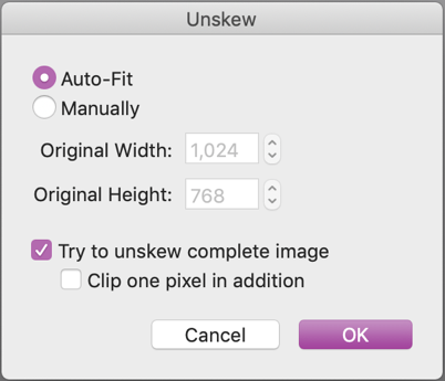 mac graphicconverter unskew preferences settings