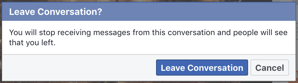 sure you want to leave facebook spam messenger chat?