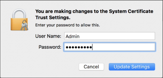 making changes, macos x keychain system