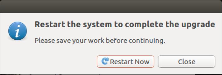 ubuntu linux - reboot to finish update