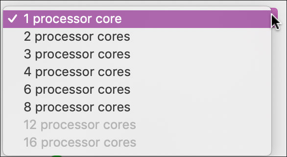 vmware fusion cpu processor cores