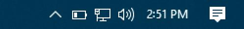 time on taskbar windows 10
