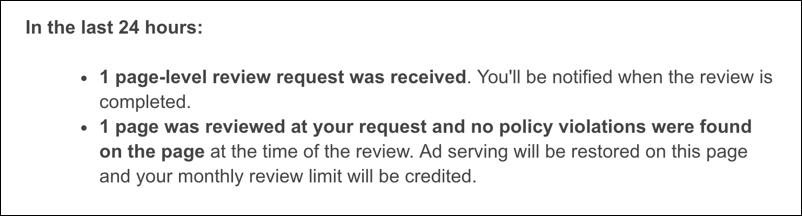 adsense problem solved cleared