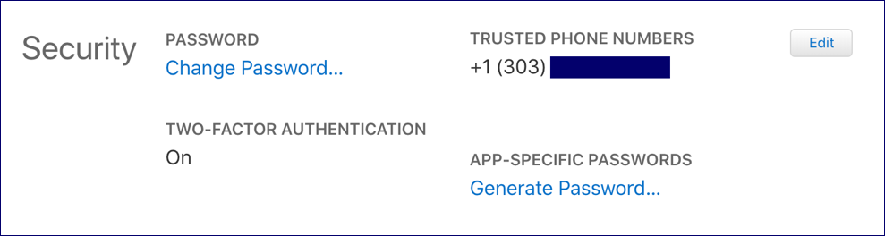 appleid trusted phone numbers