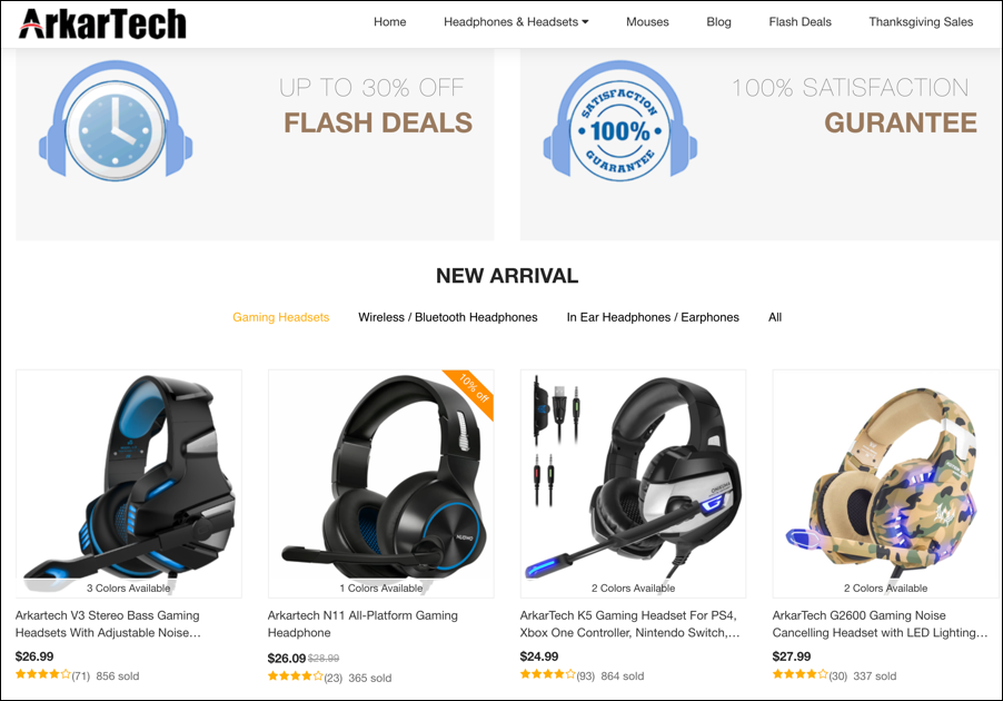 arkartech mall gaming headphones