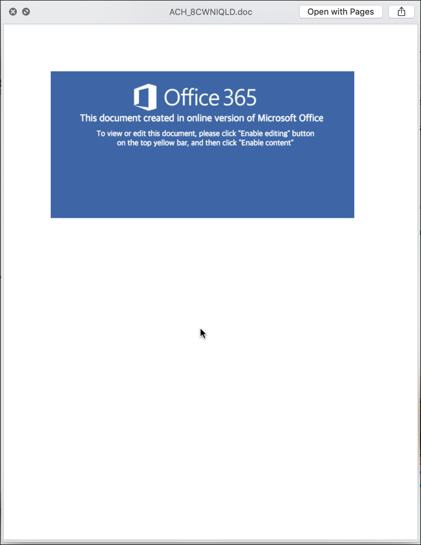office 365 macro virus malware