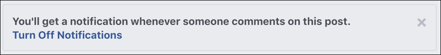 notifications turned on facebook