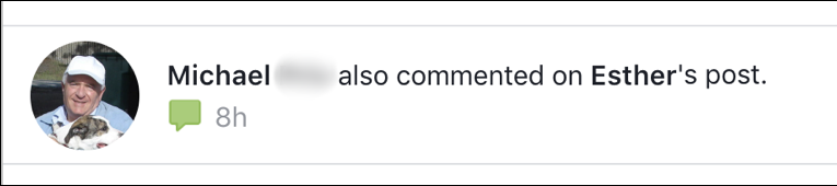 facebook comment notification