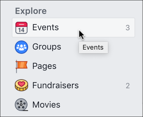 facebook - events