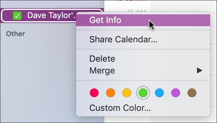 New Calendar ical get info