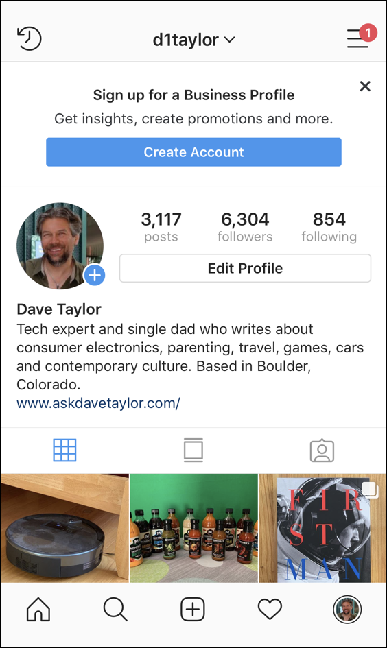 instagram profile - d1taylor