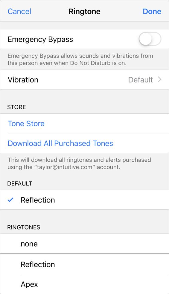set custom ringtone iphone contact