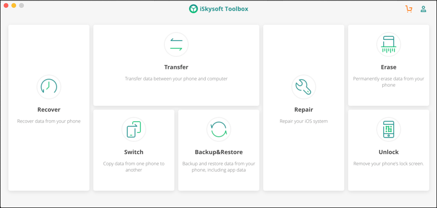 iskysoft toolbox - switch