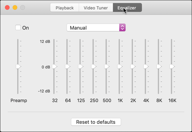 Elmedia Player - equalizer audio playback