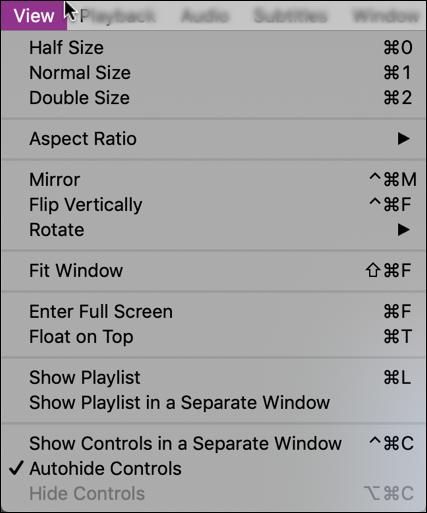 elmedia player - view options