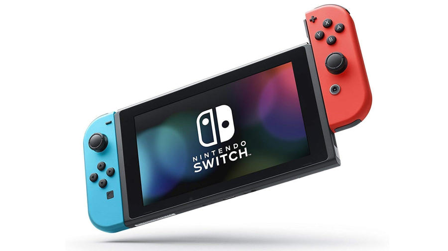 nintendo switch game unit red/blue