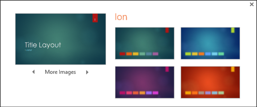 powerpoint theme variation