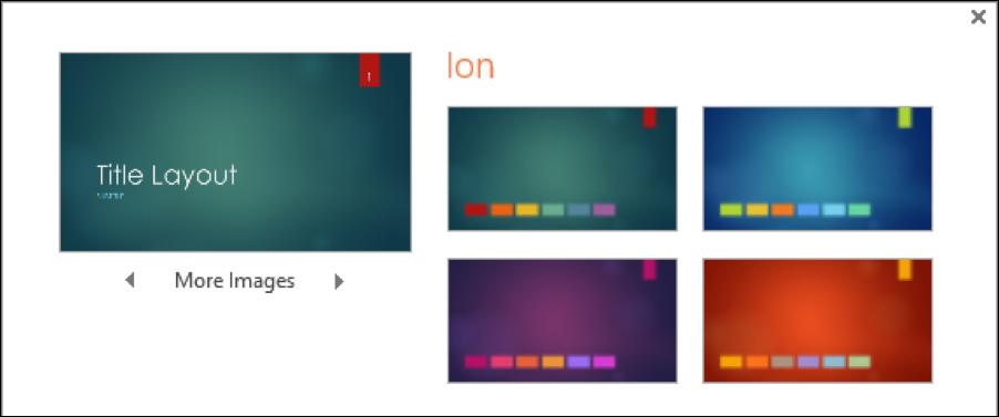 powerpoint theme variation