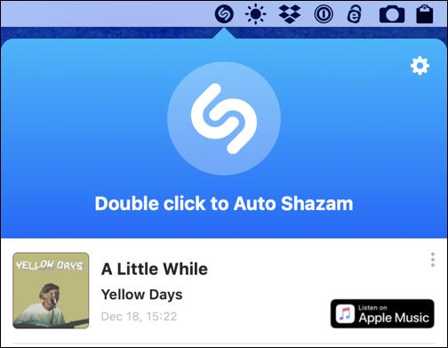 shazam identified song - auto shazam