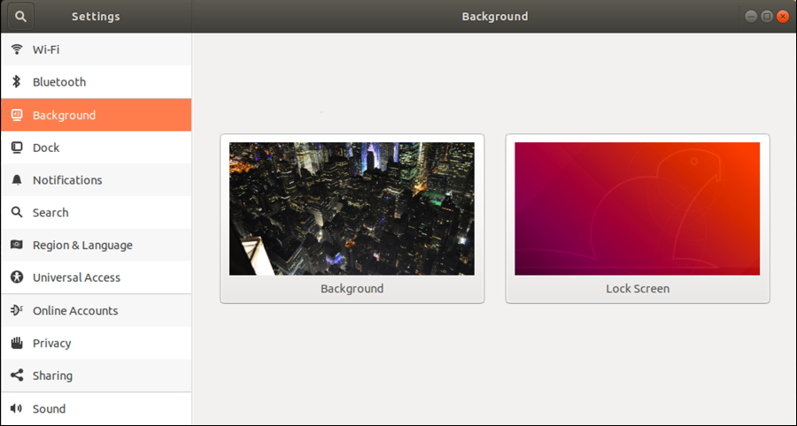 ubuntu linux - wallpaper desktop settings preferences pane