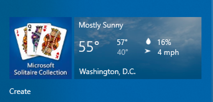 win10 start tile - weather - wrong city