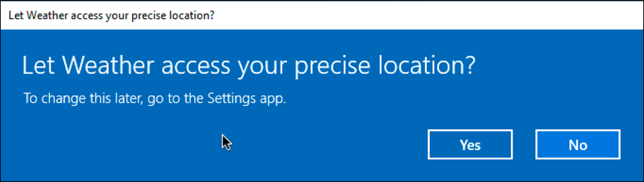 win10 location information permission
