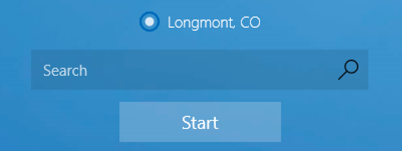 weather app location identified: longmont co