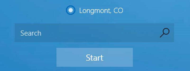 weather app location identified: longmont co