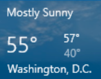 set weather location windows 10 win10