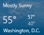 set weather location windows 10 win10