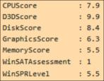 windows experience index / wmi performance score windows pc easy benchmark