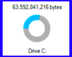 check test windows 10 win10 disk space available free used