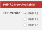 upgrade wordpress wpengine to php 7.2