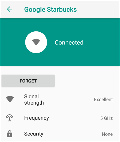 google starbucks - connected - android oreo