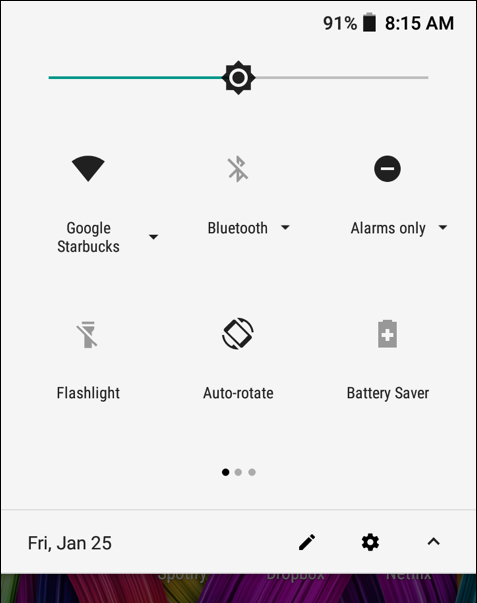 android phone status - wifi