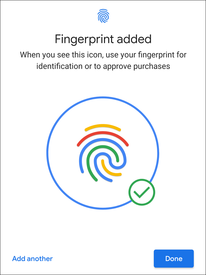 android security privacy fingerprint added