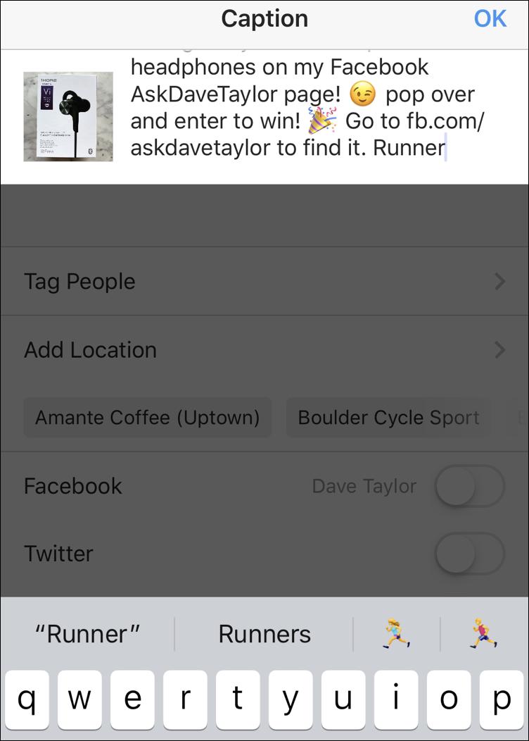 adding emoji emoticons instagram caption