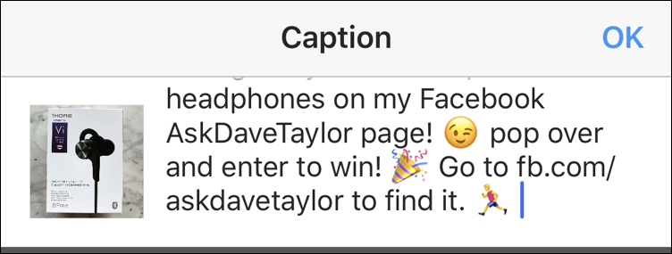 How do I add Emoji to an Instagram Post? - Ask Dave Taylor