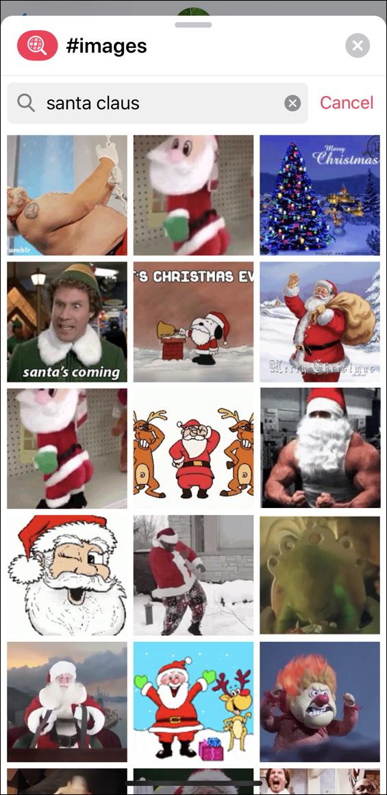 santa claus images - imessage messages