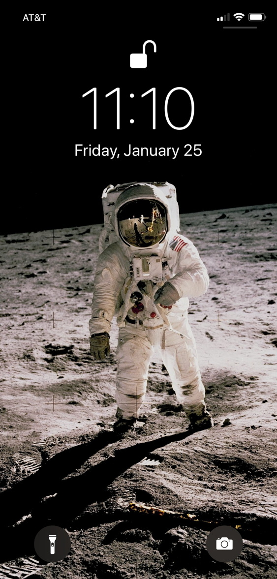 nasa astronaut buzz aldrin wallpaper lock screen iphone xs
