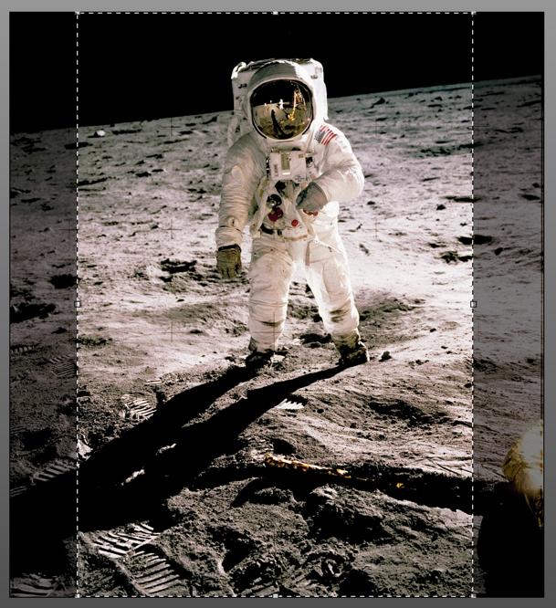 crop of astronaut photo for wallpaper