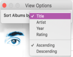 itunes mac sort by artist title date release