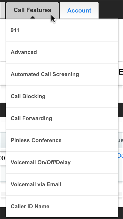 magicjack call features settings