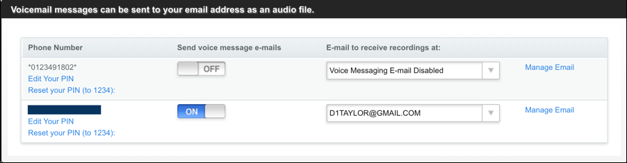 magicjack voicemail email