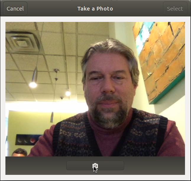 linux webcam selfie