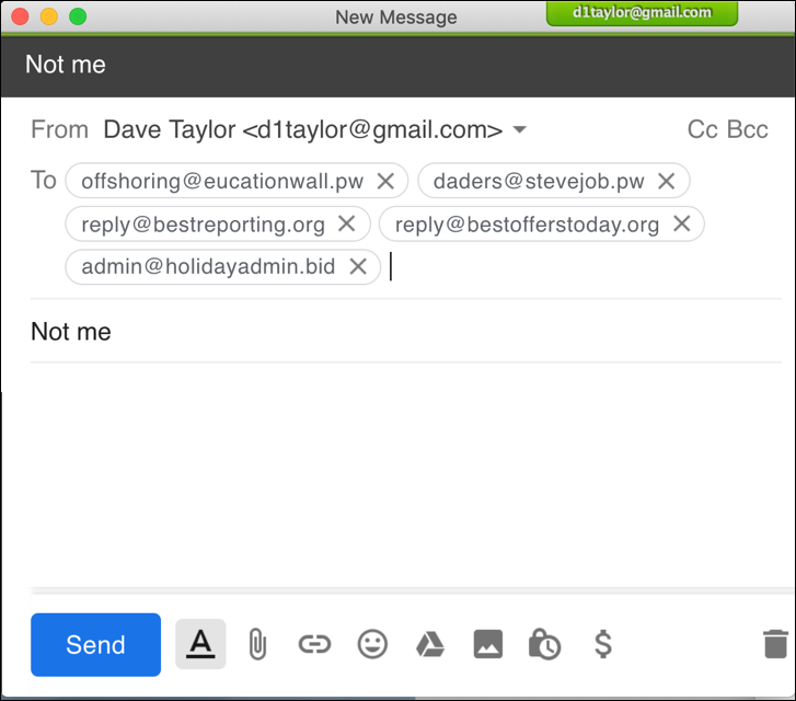 spam email message