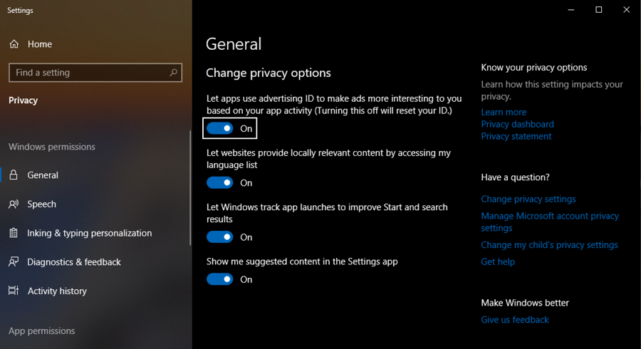 Should I let my Windows 10 Apps Access my Advertising ID? - Ask Dave