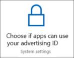 microsoft windows 10 - advertising id privacy